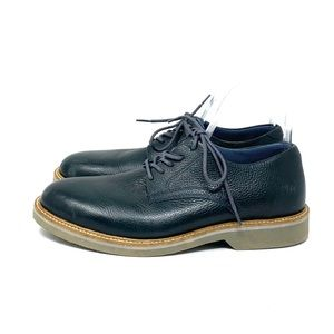 1901 Navy Blue Leather Oxfords